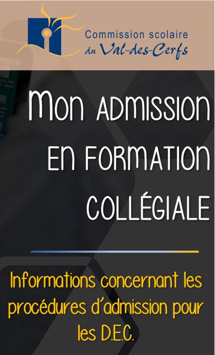 Demandes d'admission CÉGEP et Formation Professionnelle